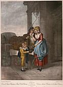 Cherry seller, Cries of London, c1870