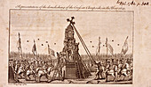 The destruction of the Cheapside Cross, London, 1793