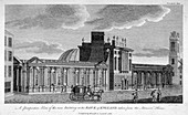 New building at the Bank of England, City of London, 1785