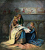 Queen Matilda And Her Tapestry', (c1850)