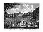 Greenwich Park, with the Royal Observatory, London, 1804