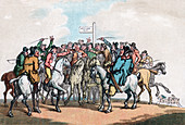 The Betting Post, Humours of Fox Hunting, 1799