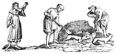 The Unearthing of a Fox, 14th century, (1833)