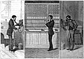 Ader telephone system, 1881
