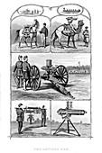 Gatling rapid fire guns, 1862