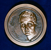 Medal commemorating Marie Sklodowska Curie, physicist, 1967