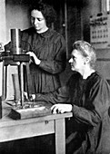 Marie and Irene Curie, French physicists