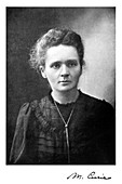 Marie Curie, Polish-born French physicist, 1917