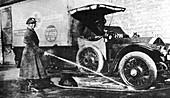 Volunteer woman ambulance driver, Cambridge, World War I
