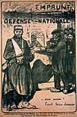 Poster paying tribute to the war effort, French, World War I
