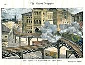 Elevated Railway in New York, c19th century