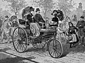 Petrol-driven car by Benz & Co, c1890s