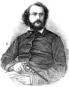 Samuel Colt, inventor of the Colt revolver, 1856