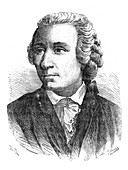 Leonhard Euler, 18th century Swiss mathematician, 1874