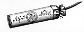 Cartridge from Nobel Explosives Company Limited, 1884