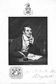 Humphry Davy, English chemist, 1821