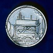 Commemorative medal for Joseph Priestley, English chemist