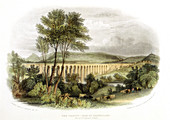 Dee Viaduct, Vale of Llangollen, c1848