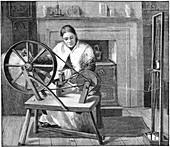 Spitalfields silk worker, London, England, 1893