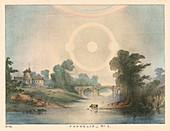 Parhelia combined with a halo and rainbow, 1721