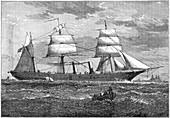 Dispatch vessel HMS 'Iris', c1880