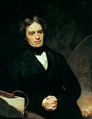 Michael Faraday, English chemist and physicist, 1842