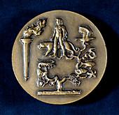 Medal commemorating Jean Baptiste de Monet, French biologist