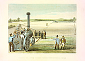 Steam ploughing tackle, c1860