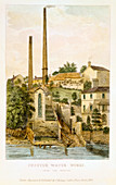 Chester Water Works, from the fields', 1852