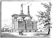 Crematorium, Pere la Chaise cemetery, Paris, 1888