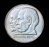 Gottlieb Daimler and Karl Benz, motor industry pioneers