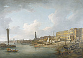 London Riverfront between Westminster and the Adelphi, c1771