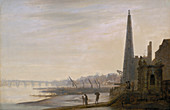 Westminster from York Stairs', c1780