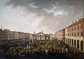 Covent Garden Piazza and Market', c1775