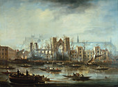 Palace of Westminster after the Fire of 1834