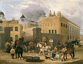 Barclay and Perkins's Brewery in Southwark', c1840