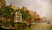 York Water Gate and the Adelphi from the River' 1872.