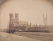 Westminster Abbey under construction, London, c1857