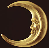 A gilded crescent moon, mid 18th century