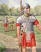 Roman soldier in armour