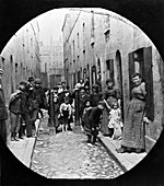 Residents of Little Collingwood Street, Bethnal Green, c1902