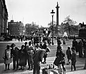 East side of Trafalgar Square, City of Westminster, London