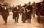 Suffragette being arrested, 19th November 1910