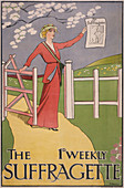 Poster for The Suffragette newspaper, c1910-c1915