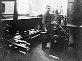 Man in a printing workshop