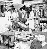 Street market scene, 1960s