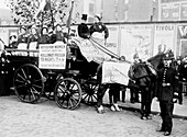 Ex-suffragette prisoners, advertise a protest meeting, 1908