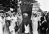 Indian suffragettes at Women's Coronation Procession, 1911
