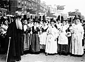 Welsh suffragettes in traditional costume, 1911