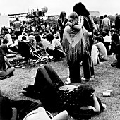 Open air pop festival, London, 1970